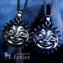 サン&ムーン&フェイス(太陽と月と顔)デザイン 3スター(星...