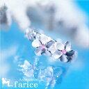 2プルメリア(花) ピンクキュービックジルコニア装飾 カレイ...