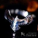 イーグル(鷲)モチーフ フェザー(羽)彫り 翼を広げたウイン...