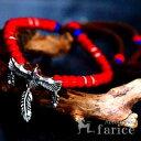 天然石 ルビー&クリアキュービックジルコニア装飾 イーグル&...