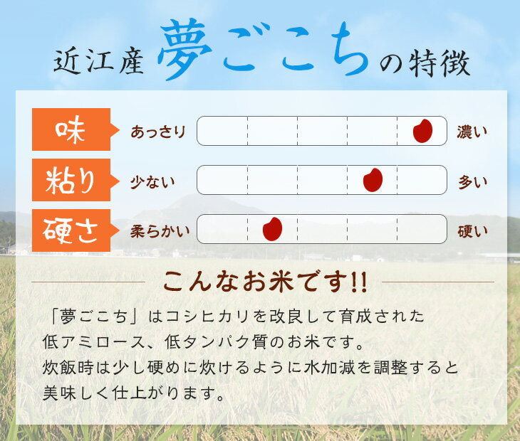 【新米】【近江米】特別栽培米 30年産 夢ごこ...の紹介画像2
