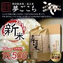 【新米】【送料無料】平成28年 滋賀県産 夢ごこち 30kg 近江米 特別栽培米 白米 玄米【返品保証】