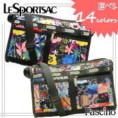 【選べる8色】レスポートサック バッグ LeSportsac 斜めがけショルダーバッグ『Deluxe Shoulder Satchel デラックス ショルダー サッチェル』ナイロン riv-7519