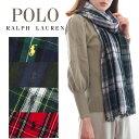 Polo Ralph Lauren ポロ ラルフローレン スカーフ メンズ レディース チェック 格子柄 大判 pc0255 | かっこいい かわいい 可愛い おしゃれ オシャレ ブランド