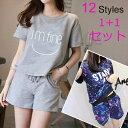 夏の半袖パジャマ/12 styles レジャーセット/家庭服/2点セット 上下セット ルームウェ