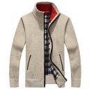 ショッピングアルター セーター メンズ カーディガン トップス カジュアル タートルネック 長袖 秋冬 ジッパー 暖かい プルオーバーセーター 保温