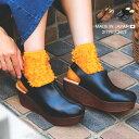 【送料無料】 ファー サンダル 厚底 サボ 秋 靴 レディース ボア サンダル 歩きやすい クロッグサンダル 厚底 ウェッジソール ミュール サボ ヒール ベルト ボア コンフォートシューズ つっかけ 日本製 国産 partir d'abord sandal