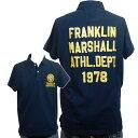 【30%OFF!!】【送料無料】 [FRANKLIN&MARSHALL]フランクリンマーシャル 2010年春夏新作 フロッキーロゴ メンズ ポロシャツ ネイビー【smtb-k】【ky】