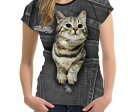 【送料無料】猫 猫柄 Tシャツ レディース トップス かわいい ユニーク 個性的 リアル ねこ ネコ グッズ 雑貨 プレゼント 誕生日 ギフト
