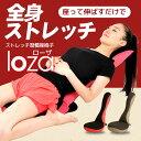 ストレッチ習慣座椅子 LOZA メッシュタイプ ピンク/ブラウン