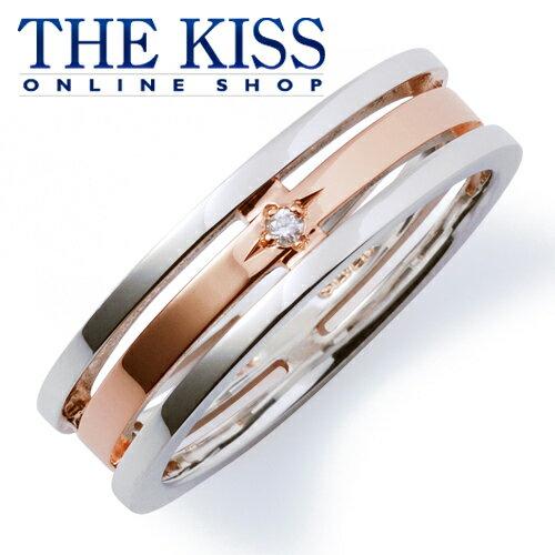 【あす楽対応】THE KISS 公式サイト シルバー ペアリング ( レディース 単品 ) ダイヤモンド ペアアクセサリー カップル に 人気 の ジュエリーブランド THEKISS ペア リング・指輪 記念日 プレゼント SR637DM ザキス 【送料無料】