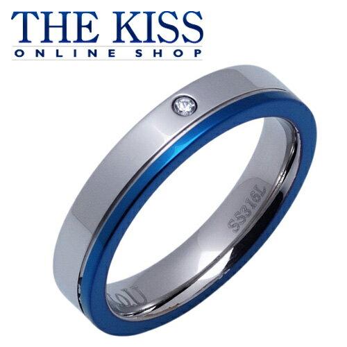 【あす楽対応】 THE KISS 公式サイト ステンレス ペアリング (レディース・メンズ 単品) ペアアクセサリー カップル に 人気 の ジュエリーブランド THEKISS ペア リング・指輪 TR3032DM ザキス 【送料無料】