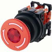 在庫品 富士電機 AR30V2R-02R φ30 非常停止用押しボタンスイッチ プッシュロック大形φ40 接点構成2b 赤