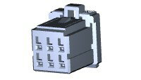 在庫品 TE Connectivety (AMP) 1-1827864-3 DYNAMIC 1200D REC HSG 6P X B