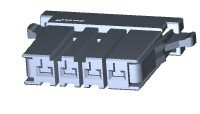 在庫品 TE Connectivety (AMP) 1-178128-4 DYNAMIC 3200S REC HSG 4P SGL