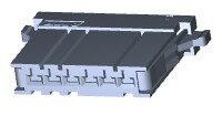 在庫品 TE Connectivety (AMP) 1-178288-6 DYNAMIC D-3100S REC HSG 6P K