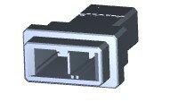 在庫品 TE Connectivety (AMP) 1-179552-2 DYNAMIC D-3200S TAB HSG 2P K