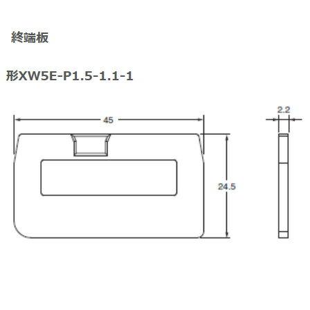 在庫品 オムロン XW5E-P1.5-1.1-1 DINレール端子台 プッシュインタイプ(中継用)
