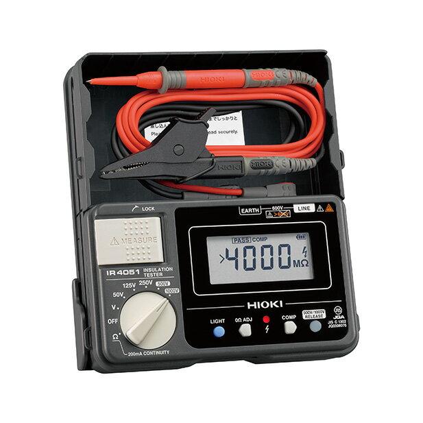 在庫品 日置電機 HIOKI IR4051-10 デジタル 絶縁抵抗計 5レンジ スイッチなしリード付属(L9787)