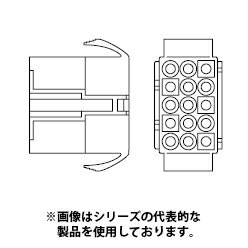 在庫品 ELR-15V 日本圧着端子・JST 接続コネクタ ELコネクタ 定格電流 10A 300V ピッチ2.5mm リセプタクルハウジング
