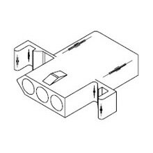 在庫品 1396R モレックス 汎用コネクタ レセプタクル 3極 メス