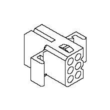 在庫品 1625-06R モレックス 1625コネクタ レセプタクル 6極 耳付