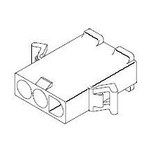 在庫品 3191-03P1 モレックス 3191コネクタ プラグ 3極 耳無