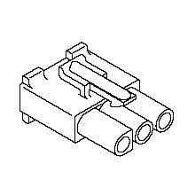 在庫品 3191-03R1 モレックス 3191コネクタ レセプタクル 3極 耳無
