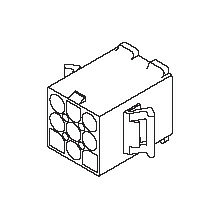 在庫品 3191-06P1 モレックス 3191コネクタ プラグ 6極 耳無