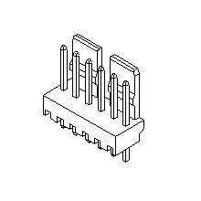 在庫品 5045-05A モレックス 5045シリーズ PCBヘッド 基板用ウエハーストレートタイプ 5極