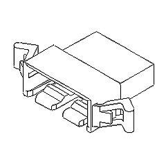 在庫品 5240-031 モレックス 2.5mmピッチ 電線対電線中継用コネクタ プラグハウジング 3極