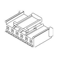 在庫品 51103-1200 モレックス 2.5mmピッチ リセプタクルハウジング 12極