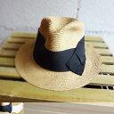 ショッピング アブ [abu] リボン 中折れ ペーパーハット [nh-026] LADY'S ラフィア/ペーパーハット/日除け/麦わら帽子10P03Dec16