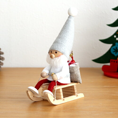 【クーポン配布中】 ノルディカニッセ そりに乗るサンタ サイレントナイトシリーズ NORDIKA nisse 2020 クリスマス 雑貨 木製 人形 北欧 NRD120646