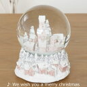 【在庫限り特別価格】スノードーム クリスマス ハウス(オルゴール付スノーボール) クリスマス雑貨★ウッドオーナメントのおまけ付★
