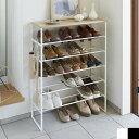 天板付きシューズラック 靴入れ 棚 tower タワー ラック シェルフ 玄関 玄関収納 靴