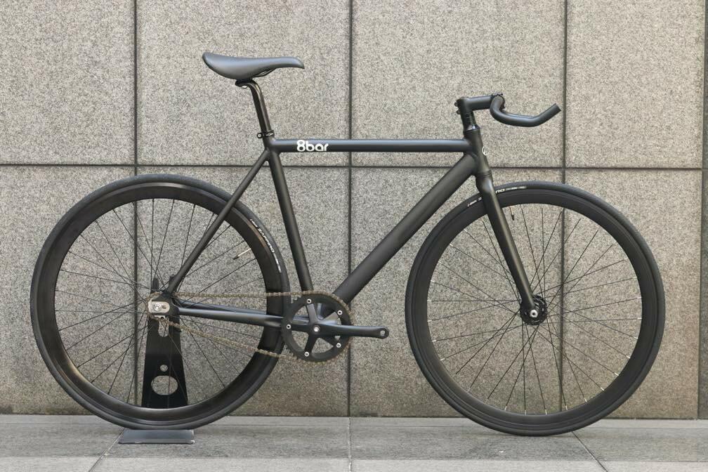 ピストバイク 完成車 8BAR BIKES FHAIN V2 BLACK 8バー バイクス フェイン V2 ブラック PISTBIKE ピストバイク 完成車 8BAR BIKES FHAIN V2