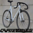 ピストバイク 完成車 カーテルバイク CARTEL BIKE AVENUE MAT WHITE