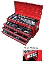 """【送料無料】1/2""""&1/4""""DR.97PC.ツールキットST-9705整備用工具97点セット工具箱付差込角6.35mm差込角12.7mmプロ仕様ハイグレードタイプ4段格納式"""