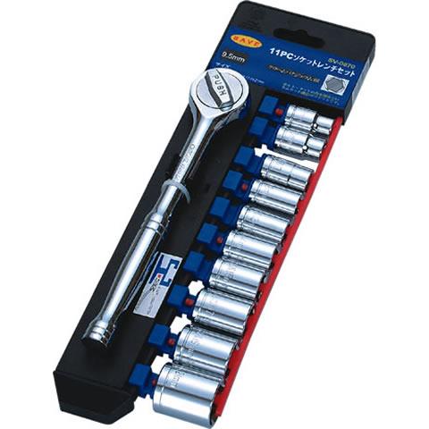 Socket Wrench Storage 11 pc Socket Wrench Set 3 8