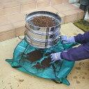 らくらく土フルイスタンド 3段型用土分割器 NO.129 Bタイプ 【フルイ3個付】 NO.50 【園芸シート付】 フルイを前後にスライドさせるだけで用土を振り分け一度に3リットルの用土を3種類に分けられます!37cmフルイ用 日本製