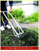 耕すべ〜軽量アルミ製土起こし器ATB-01全長1065mmテコの原理で土起こしがとても楽!家庭菜園に最適!鍬代わりに畑の耕作に!