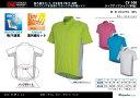 ジップアップシャツ(半袖) CY-100 サイクルウェアシリーズ 紫外線カット、吸汗速乾、ポリエステル100% アウトドア用・サイクリ..
