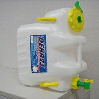 ダブルハンドル付ウォータータンクコック付ハンドル付きウォータータンク23L非常災害対策用コック付ポリ容器飲料水の備蓄用ポリタンクに