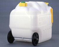 コロコロタンクW-2コック付車輪とハンドル付きウォータータンク20L非常災害対策用コック付ポリ容器飲料水の備蓄用ポリタンクに