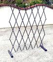 【送料無料】ワンタッチ伸縮 簡易フェンス スチールパイプ製 お庭のアプローチや花壇の仕切...