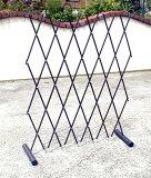 【】【大型商品】ワンタッチ伸縮 簡易フェンス スチールパイプ製 お庭のアプローチや花壇の仕切りにガレージや駐車場のバリケードにつるバラのトレリスフェンスにも工夫次第で使い方は色々! 日本製