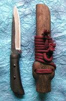 【送料無料】佐治作猪切(大)120mm狩猟用ナイフ鞘入