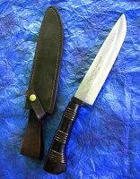 【送料無料】佐治武士作多層鋼剣鉈九頭龍川210mm和式ナイフ革鞘入