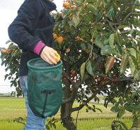 ガーデニングバッグマイティNo.106上から入れて下から出す画期的な収穫バッグショルダー掛け・ウエスト掛けの2WAY装着野菜・果物の収穫、庭木や花のお手入れ、山菜取りに